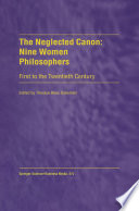 The Neglected Canon  Nine Women Philosophers