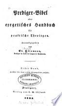 Prediger Bibel  oder  Exegetisches Handbuch f  r praktische Theologen