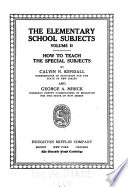 The elementary school subjects