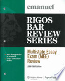 Multistate Essay Exam  Mee  Review