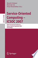 Service Oriented Computing   ICSOC 2007