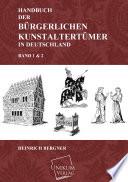 Handbuch der bürgerlichen Kunstaltertümer in Deutschland