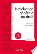 Introduction G N Rale Au Droit 12e Ed