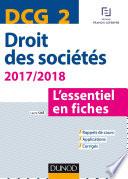 DCG 2 - Droit des sociétés 2017/2018 - 8e éd.