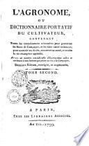 L Agronome  dictionnaire portatif du cultivateur