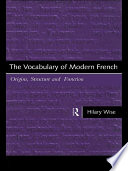 The Vocabulary of Modern French