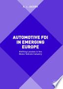 Automotive Fdi In Emerging Europe
