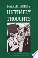 Untimely Thoughts