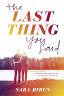 The Last Thing You Said Book