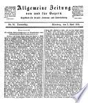 Allgemeine Zeitung von und f  r Bayern
