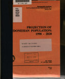 Projection of Indonesian population, 1990-2020