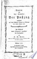 Figuren aus der Comedie Der Postzug ... Im Geschmack bunter Zeichnungen ausgeführt und hrsg. von G ....M. .. Kraus