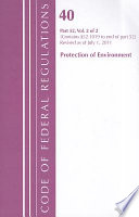 Code Of Federal Regulations Title 40 Protection Of Environment Part 52 Sections 52 1019 End Revised As Of July 1 2011 book