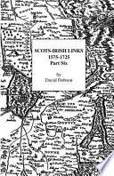 Scots Irish Links  1575 1725