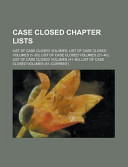 Case Closed Chapter Lists