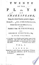 Twenty of the Plays of Shakespeare  A midsommer nights dreame  1600  A pleasant comedy of the merry wiues of Windsor  1619  The merry wiues of Windsor  1630  Much adoe about nothing  1600  The comicall history of the merchant of Venice  1600  Loues labour s lost  1631