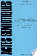 Intelligence Artificielle Et Theorie Semio linguistique