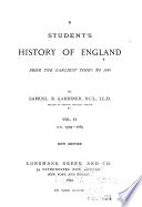 A Student s History of England from the Earliest Times to 1885