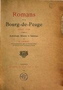 Romans et Bourg-de-Péage avant 1790