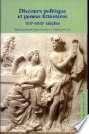 Discours politique et genres littéraires