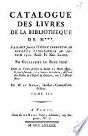 Catalogue Des Livres De La Biblioth  que De M