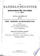 Das Handels-Register des Königreichs Bayern im Jahre 1871