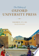 History Of Oxford University Press Volume Iv book