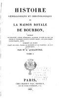 Book Histoire Généalogique Et Chronologique de la Maison Royale de Bourbon