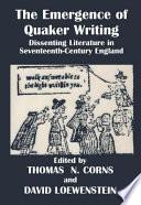 The Emergence of Quaker Writing