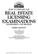 Barron s how to Prepare for Real Estate Licensing Examinations