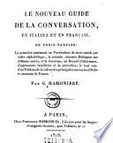 """""""Le"""" nouveau guide de la conversation, en italien et en francais"""