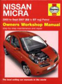 Nissan Micra Owners Workshop Manual
