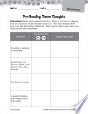 Alexander and the Terrible  Horrible  Pre Reading Activities