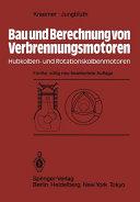 Bau und Berechnung von Verbrennungsmotoren