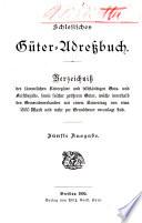 Schlesisches Güter-Adressbuch