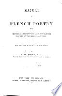 Manual of French Poetry