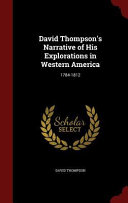 download ebook david thompson's narrative of his explorations in western america pdf epub