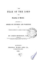 The Fear Of The Lord The Guardian Of Youth : ...