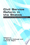 Civil Service Reform in the States