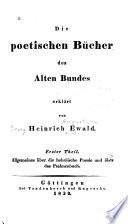Die poetischen Bücher des Alten Bundes