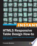 Instant HTML5 Responsive Table Design How to