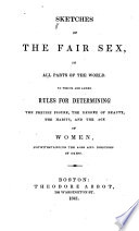 Sketches of the Fair Sex  in All Parts of the World