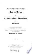 Jahresbericht des Historischen Vereines von Oberbayern