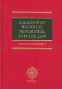 Freedom of Religion  Minorities  and the Law