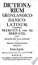 Dictionarium grönlandico-danico-latinum