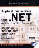 Applications serveur sous  NET