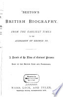 Beeton s British Biography