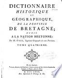 Dictionnaire historique et géographique de la province de la Bretagne