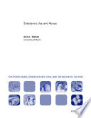 Substance Use and Abuse  Oxford Bibliographies Online Research Guide