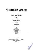 Gesammelte gedichte von Gottfried Keller...